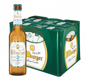 Bitburger helles Lagerbier glutenfrei 24x0,33l